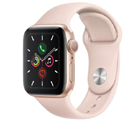 Apple Watch Series 5 GPS 40mm Gold Aluminium Case with Pink Sand Sport Band Free with mobile phones