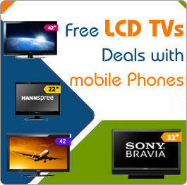 Free LCD Tv with contract Phones